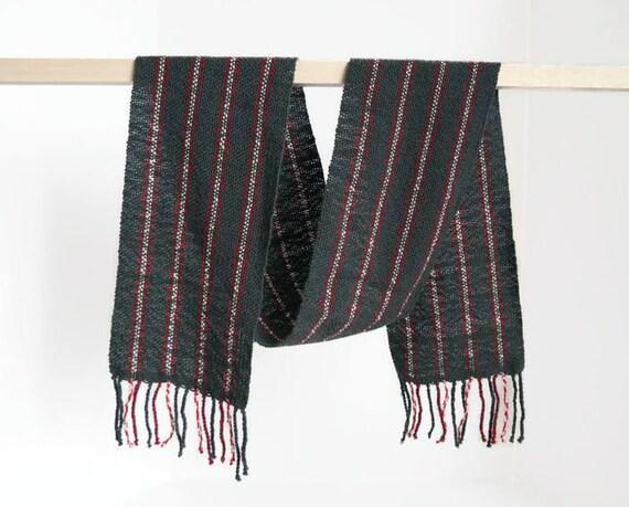 c4cd31686850 écharpe en laine mérinos écharpe tissée à la main bleu gris