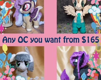 OC Pony Plush Custom Handmade My Little Plushie MLP