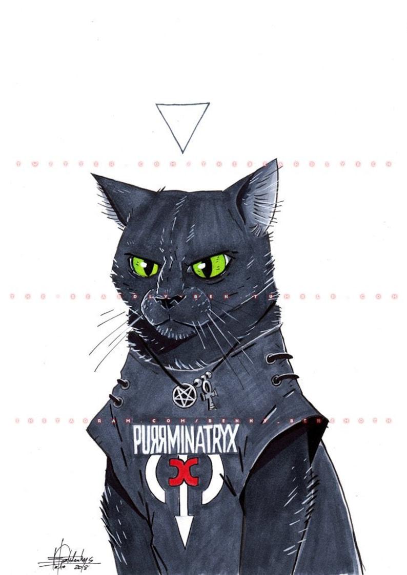 ORIGINAL  Metal Cats: Purrminatryx image 0