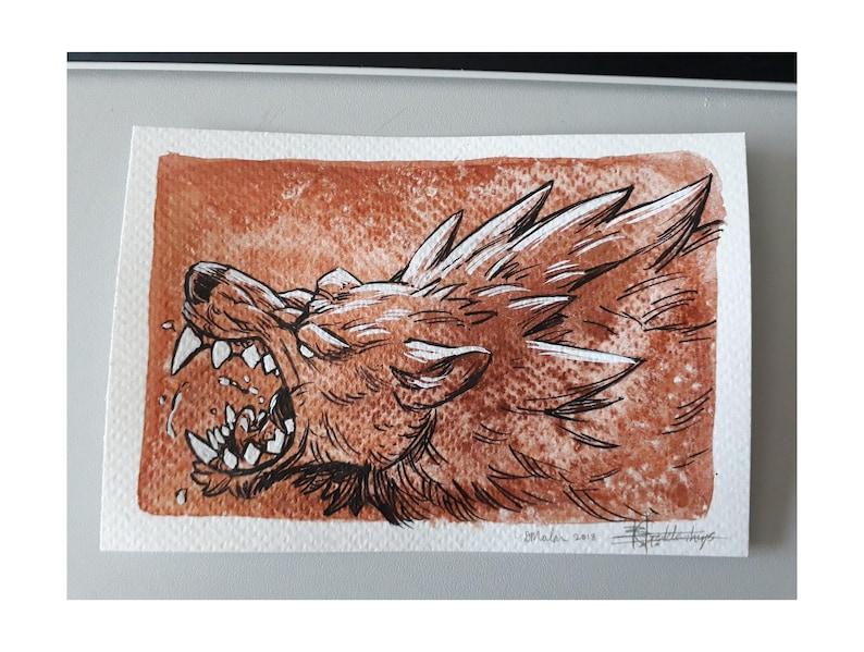ORIGINAL  Copper Werewolf image 0