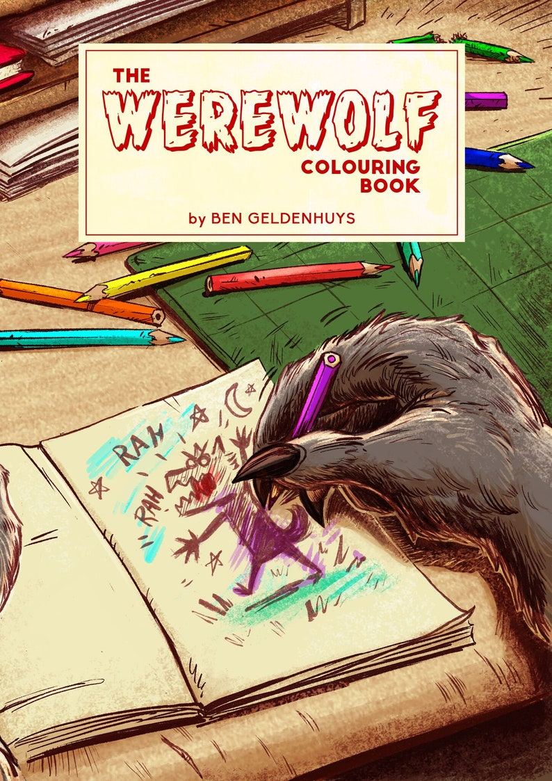 Werewolf Colouring Book image 0