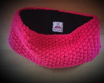 Fluorescent Coral Headband Earwarmer