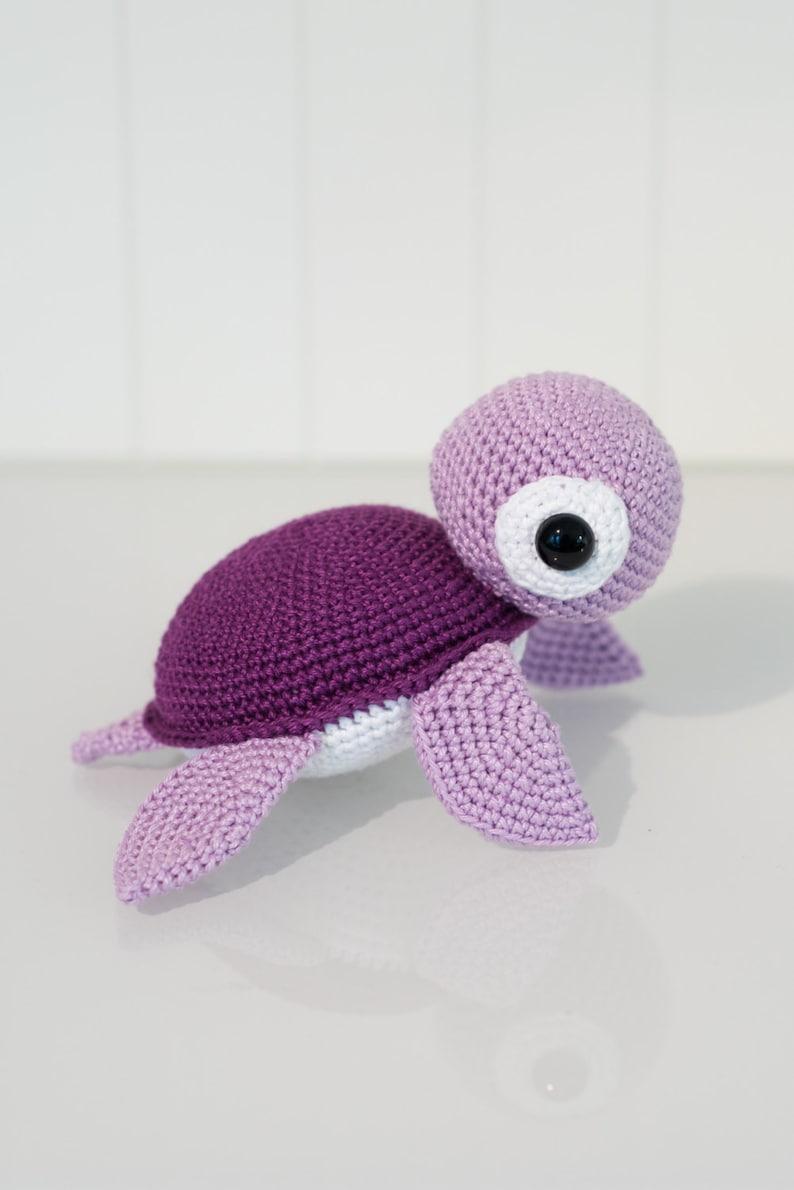 Purple Turtle  Rattle  Amigurumi image 0