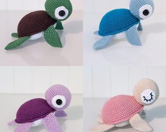 Häkelanleitung - Balu, die Schildkröte