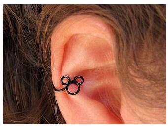 Mickey Ear Cuff, Ear Cuff, Disney Earring, Disney Jewelry, Mickey Cuff, Disney World, Disneyland, Mickey Jewelry, Mickey Earrings, Hidden