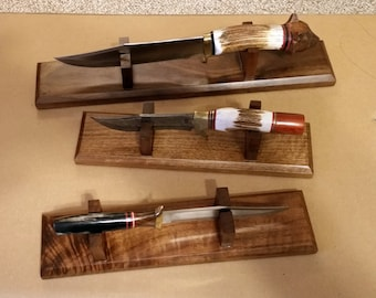 Made to Order Knife Display Stand- Custom, Hand Made to Your Specifications