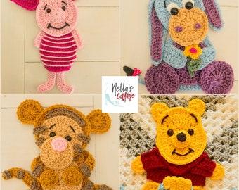 Set of 3 crochet elephant head Applique/ Scrapbooking/ flatback ... | 270x340