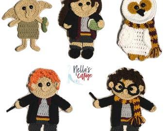 Crochet Pattern - INSTANT PDF DOWNLOAD - Crochet Patterns - Crochet Appliques - Wizard Appliques - Crochet Wizard Patterns - Crochet