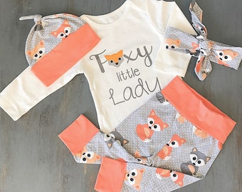 17cdf73334e Baby Outfit - Baby Clothes - Clothing Set - Outfit - Fox - Baby Girl Outfit  - Baby Girl - Baby Girl Clothes - Cute Baby Clothes - Baby Gift