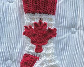 Crochet Pattern - INSTANT PDF DOWNLOAD - Crochet Stocking Pattern - Stocking - Christmas Stocking - Christmas Pattern - Canadian Stocking