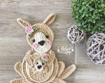 Crochet Pattern - INSTANT PDF DOWNLOAD - Crochet Kangaroo - Crochet Koala - Nellas Cottage - Kanagroo Pattern - Koala Pattern - Be The Light