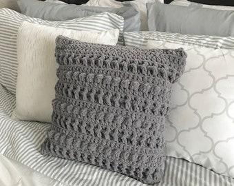 Crochet Pattern - INSTANT PDF DOWNLOAD - Crochet Pillow Cover - Crochet Farmhouse Pillow - Farmhouse Pillow Cover - Crochet Amara Pillows
