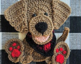 Crochet Pattern - INSTANT PDF DOWNLOAD - Chocolate Lab - Dog - Crochet Dog - Crochet Chocolate Lab - Puppy Pattern - Nellas Cottage