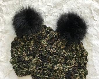 Amara Beanie - Beanie - Hat - Winter Hat - Crocheted Beanie  - Nellas Cottage Beanies - Beanies - Hats - Crocheted Hats - Chunky Knit Beanie