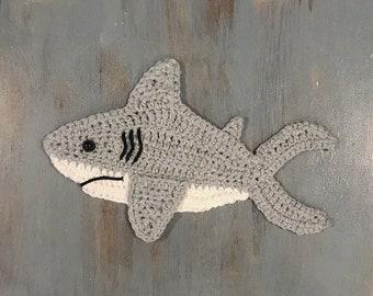 Crochet Pattern - INSTANT PDF DOWNLOAD - Crochet Shark Pattern - Shark - Shark Pattern - Great White Shark - Crocheted Shark - Sharks