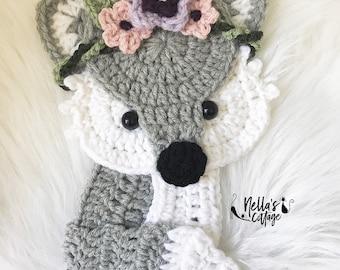 Crochet Pattern - INSTANT PDF DOWNLOAD - Fox - Boho Fox - Crochet Fox - Woodland Animals - Boho Fox Pattern - Nellas Cottage - Patterns