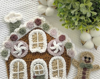 Crochet Pattern - Instant PDF DOWNLOAD - Nellas Cottage - Gingerbread House - Christmas - Crochet Christmas - Christmas Gingerbread House