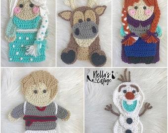 Crochet Pattern - INSTANT PDF DOWNLOAD - Pattern - Crochet - Winter - Fairytale - Princess - Nellas Cottage - Snowman - Prince - Princesses