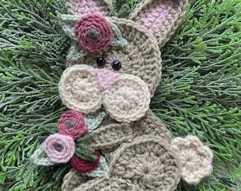 Crochet Pattern - INSTANT PDF DOWNLOAD - Bunny - Boho Bunny - Crochet Bunny - Woodland Animals - Boho Pattern - Nellas Cottage - Patterns