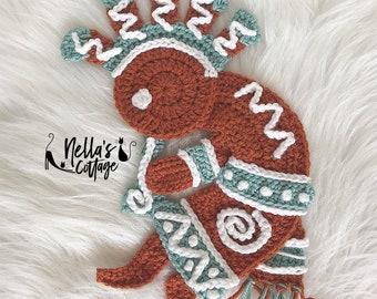 Crochet Pattern - INSTANT DOWNLOAD - Kokopelli - Crochet Patterns - Nellas Cottage - Crochet Kokopelli - Native American Art - Kokopelli Art