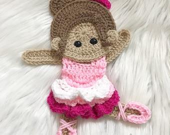 Crochet Pattern - INSTANT PDF DOWNLOAD - Ballerina - Crochet Ballerina - Crochet Patterns - Applique Pattern - Baby Ballerina - Crochet