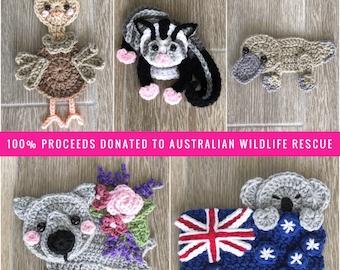 Crochet Pattern - INSTANT PDF DOWNLOAD - Nellas Cottage - Crochet - Australia - Koala - Kangaroo - Be The Light