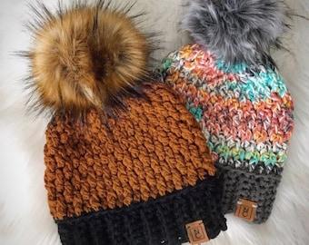 Crochet Pattern - INSTANT PDF DOWNLOAD - Hat Pattern - The Alpine Beanie - Beanie Pattern - Chunky crochet Pattern - Crochet - Pattern - diy