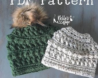 Crochet Pattern - INSTANT PDF DOWNLOAD - Hat Pattern - The Amara Beanie - Beanie Pattern - Chunky Knit Pattern - Crochet - Pattern - diy