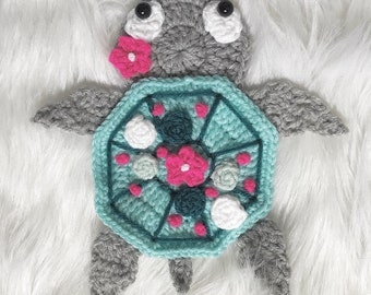 Crochet Pattern - INSTANT PDF DOWNLOAD - Nellas Cottage - Boho Sea Turtle - Sea Turtle Crochet Pattern - Crochet - Turtles - Sea Turtles