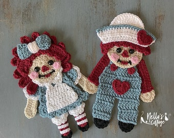 Crochet Pattern - INSTANT PDF DOWNLOAD - Vintage Pattern - Pattern - Crochet - Crochet Applique - Applique Patterns - Vintage Friends