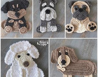 Crochet Pattern - INSTANT PDF DOWNLOAD - Crochet Puppies - Crochet - Dog - Puppy - Rottweiler - Dachschund - Poodle - Pug - Schnauzer - Dogs