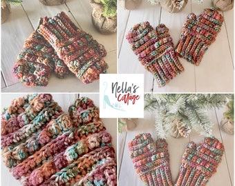 Bubble Mittens Pattern - Crochet Mittens - Mittens Pattern - INSTANT PDF DOWNLOAD - Pattern - Crochet Pattern - Bubble Mittens - Winter