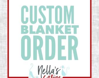 Custom Crocheted Blanket - Custom Blanket - Custom Order - Personalize - Custom Baby Blanket - Crochet Baby Blanket - Custom Crochet Gift