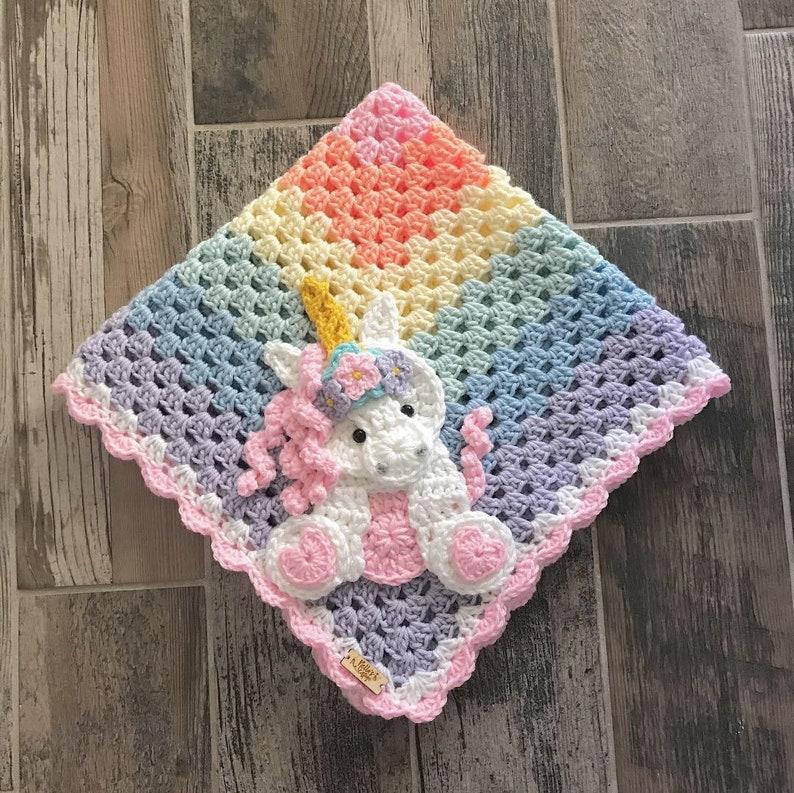 0278ba67e1014 Crochet Baby Blanket - Baby Blanket - Handmade Baby Blanket - Unicorn Baby  Blanket - Crocheted Baby Blanket - Baby Unicorn
