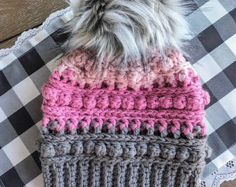 Crochet Pattern - INSTANT PDF DOWNLOAD - Hat Pattern - The xoxo Beanie - Nellas Cottage - Crochet - Beanie - Crochet Hat Pattern - Hats