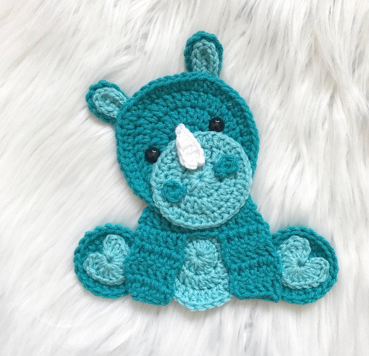 Elephant Applique Free Crochet Pattern | Free Crochet Patterns | 1179x1225