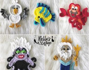 Crochet Pattern - INSTANT PDF DOWNLOAD - Pattern - Under The Sea - Nellas Cottage - Lobster - Octopus - Fairytale - Crochet - Pattern