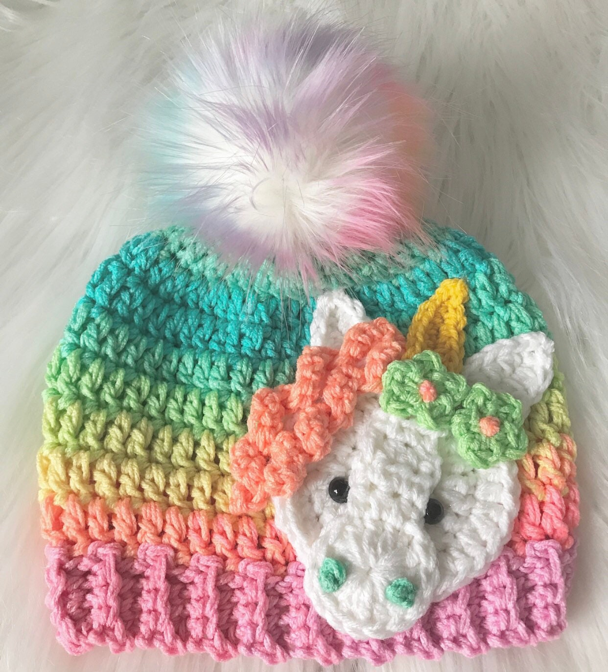 c4970c9d3c8d0 ... Beanie - Hat - Ombre - Gifts for Her - Unicorn Hat - Unicorn Hats -  Crochet. gallery photo gallery photo ...