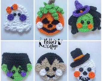 Crochet Pattern - INSTANT PDF DOWNLOAD - Pattern - Halloween - Halloween Minis - Nellas Cottage - Crochet Patterns - Halloween Patterns