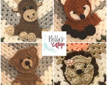 Crochet Pattern - INSTANT PDF DOWNLOAD - Pattern - Woodland Pattern - Crochet - Crochet Woodland - Moose - Bear - Hedgehog - Fox