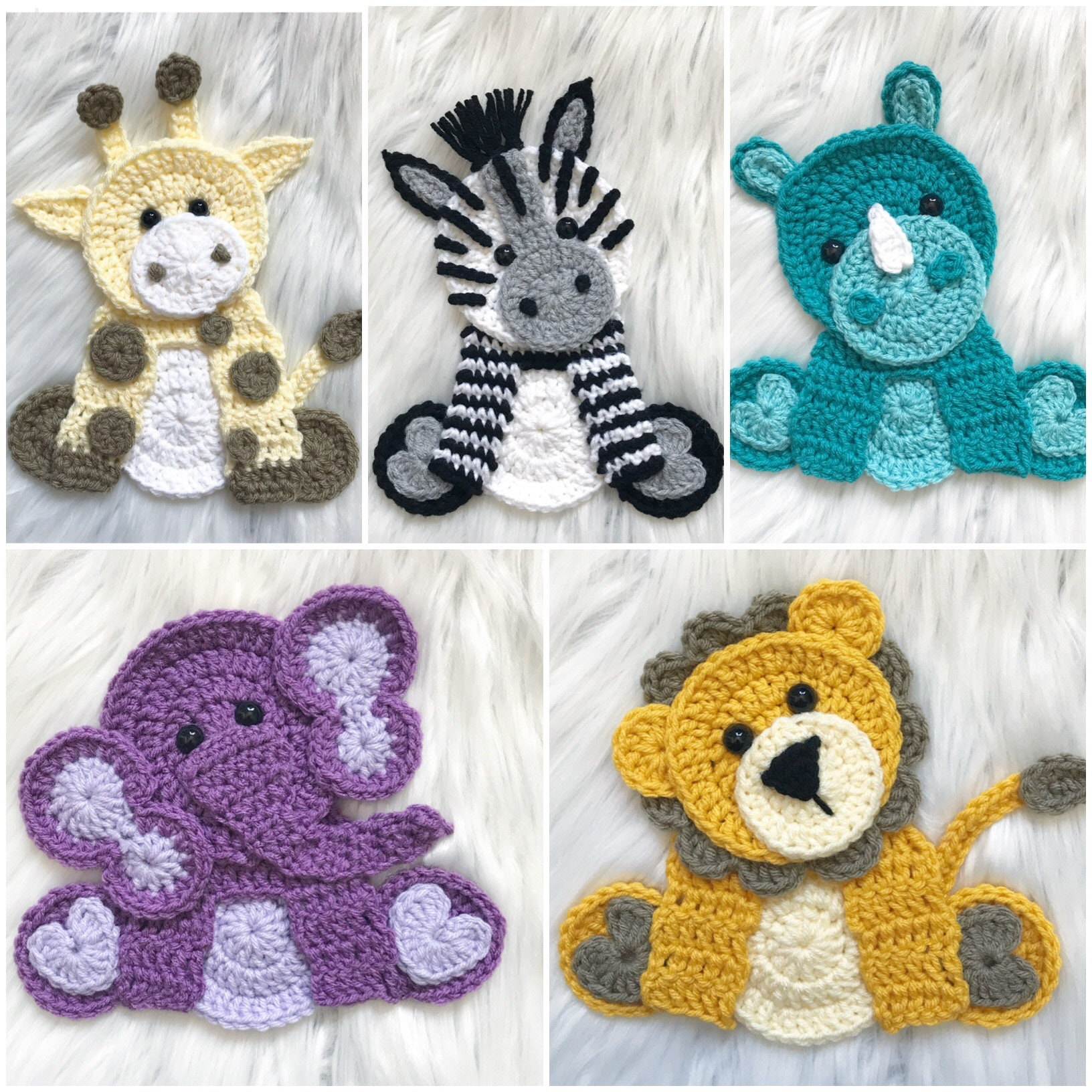 Crochet Pattern Instant Pdf Download Zoo Animals