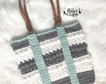 Crochet Pattern - INSTANT PDF DOWNLOAD - Crochet Tote - Crochet Handbag - Amara Tote - Amara Handbag - Nella's Cottage Patterns - Totebag