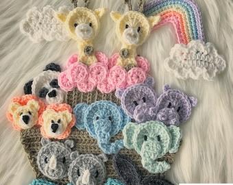 Crochet Pattern - INSTANT PDF DOWNLOAD - Noah's Ark Pattern - Crochet Noah's Ark - Appliqué Pattern - Pattern - Baby Pattern