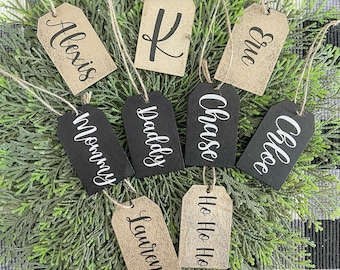 Custom Gift Tags - Customized Gift Tags - Christmas Gift Tags - Wood Gift Tags - Personalized Gift Tags - Nellas Cottage  - Christmas - Gift