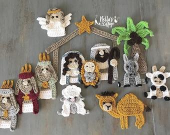 Crochet Pattern -INSTANT PDF DOWNLOAD - Nativity - Nativity Scene - Crochet Nativity Scene - Crochet - Christmas Pattern - Nativity Story