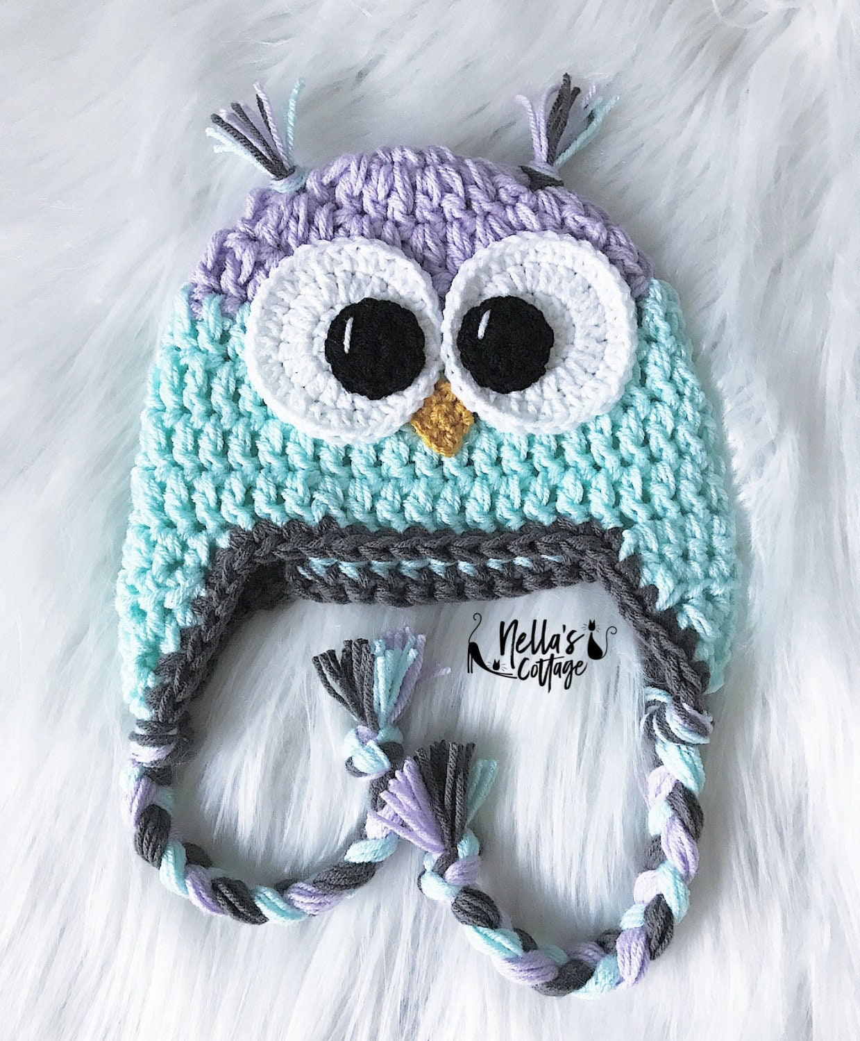 Handmade Owl Hat Crocheted Owl Hat Hat Gifts For Her Animal