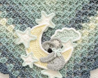 Crochet Baby Blanket - Baby Blanket - Handmade Baby Blanket - Crochet Baby Blanket - Koala Baby Blanket - Crochet Koala