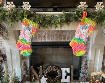 Unicorn Christmas Stocking - Christmas Stocking - Unicorns - Unicorn - Stocking -Christmas - Kids Stockings