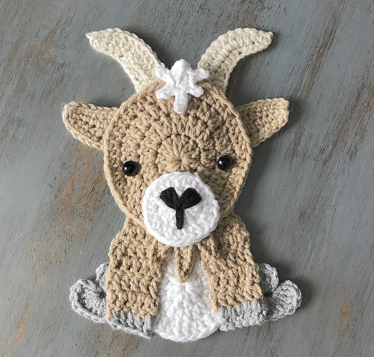 Crochet Pattern Instand Pdf Download Goat Pattern Etsy