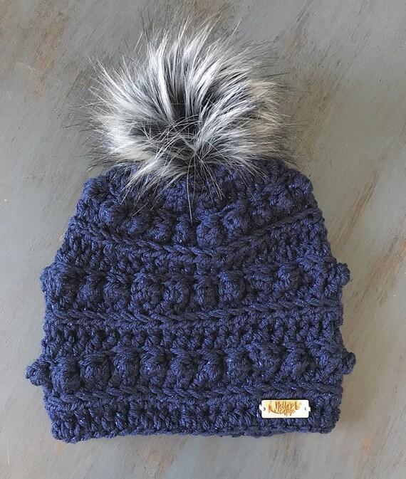 b7bcea38c9e Midnight Sparkle Beanie Hat Beanie Winter Hat Knit